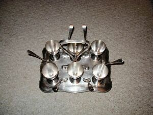 EGG HOLDER WITH SPOONS FOR SALE!