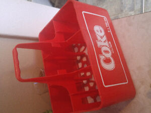 Coca Cola Glass Set (6) and plastic carrier
