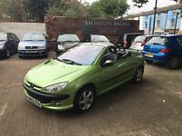 Peugeot 206 1.6 convertible 2003 only 60,000 miles fantastic car immaculate condition