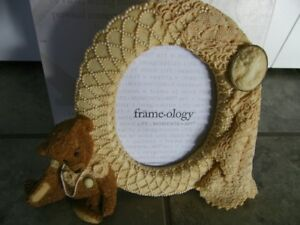NEW Cameo Teddy Picture Frame
