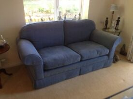 2 Seater Laura Ashley Blue Sofa in Great Condition