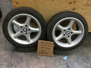 BMW, 2 winter tires and rims - 17in.