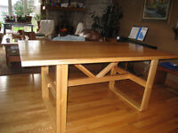 Solid Birch  Trestle Table