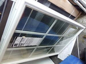 Brand new window insert for exterior door