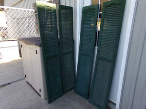 Vinyl Window Shutters Painted Rustic Green