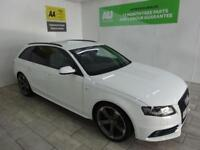 WHITE AUDI A4 2.0 AVANT TDI S LINE BLACK EDITION ***FROM £314 PER MONTH***
