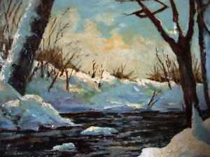 """Early Spring Landscape by T. Callaghan """"Spring Patterns"""", 1960's Stratford Kitchener Area image 7"""