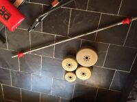 Bar & weights 2x4.5 kg & 4x2.3kg & 2x1.1kg