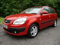 07/07 KIA RIO 1.5 CRDI LS 5DR HATCH IN RED WITH SERVICE HISTORY