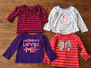 Very cute girls 2T size Long sleeves Shirts for $15 Oakville / Halton Region Toronto (GTA) image 3