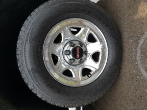 "17"" GMC rims and tires"