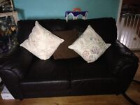 2 & 3 seater 100% Leather Sofas BARGAIN