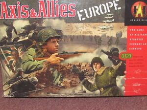 VINTAGE Axis & Allies EUROPE  Avalon Hill playing game