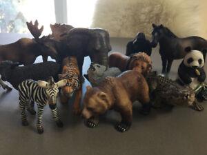 Figurines Schleich - Collection de douze animaux