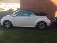 VW beetle convertible cream