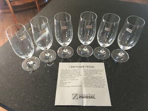 Vintage Zwiesel Crystal Wine/Water Glasses Germany with Labels
