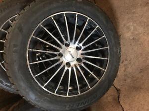 205/60R16 studded winter tires & alloys (5x114.3)