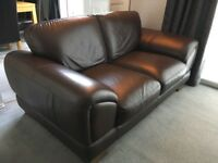 2x LEATHER SOFAS EXCELLENT CONDITION