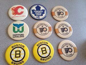 NHL 60's-70's pins
