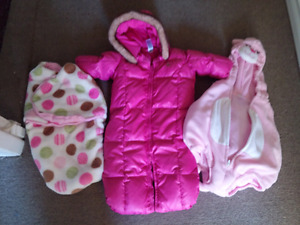 Baby sleep sack, down winter suit and cat costume
