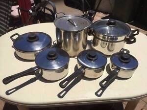 5 Stainless Steel Pans & Steamer Beckenham Gosnells Area Preview
