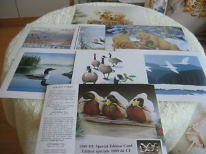 SEVEN 1989 SAMPLE SPECIAL EDITION DUCKS UNLIMITED POST CARDS