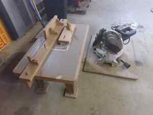Chop saw and router table