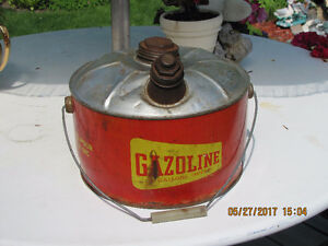 Metal Gasoline Can - 2 Imperial Gallon - Vintage