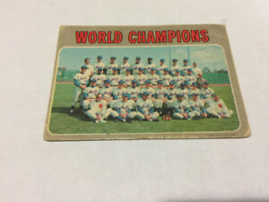 1970 OPC #1 World Champions (New York Mets) New Mets Team BBC.