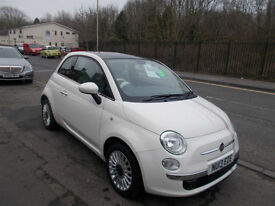 FIAT 500 1.2 LOUNGE 3 DOOR 1 OWNER FROM NEW 24,000 MILES FSH PANORAMIC ROOF 2013