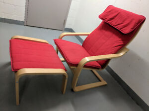 IKEA Poang Chair and Foot Stool - Yonge & College