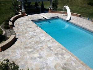 OUTDOOR STONE PAVERS FOR POOLS WALKWAYS DRIVEWAYS 50% OFF RETAIL