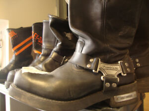 HARLEY DAVIDSON MOTORCYCLE LEATHER BOOTS