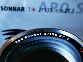 Zeiss 135mm f2 Sonar APO ZF.2 Lens =Nikon