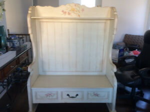Bench with flip top for storage (Made from real wood) $700