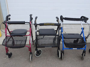 ~~~Assorted Used 4 Wheel Walkers, Good Condition