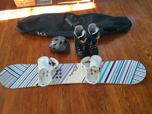 Snowboard with boots, bindings and more
