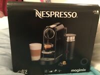 Nespresso / Magimix Citiz Coffee Pod Machine.BNIB ! RRP £200 want just £100. Complete with 16 pods