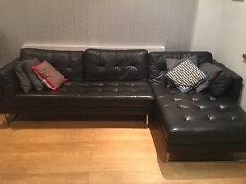Dwell black corner sofa