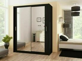 🎁SLIDING MIRRORED DOOR CHICAGO / BERLIN WARDROBES IN DIFF SIZES AN COLORS🎁