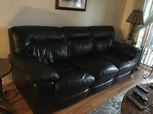 Leather sofa, chair