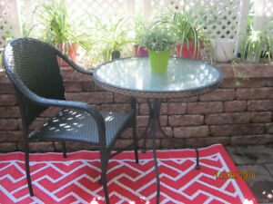 Table et chaise patio