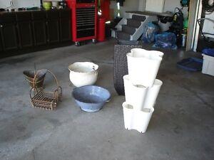 Garden pots and decor