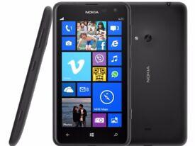 *Factory Unlocked - Good* Nokia Lumia 625 Black 16GB LTE/4G Windows Phone 10 OS