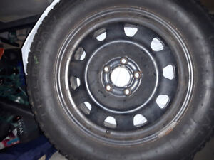Good used winter tires and rims at a fair price