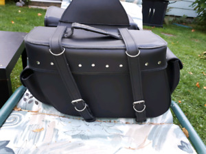 Large Black Throwover saddle bags