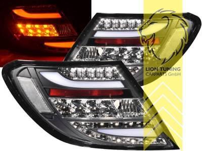 Light Bar LED Rückleuchten für Mercedes Benz W204 Limo C-Klasse schwarz smoke