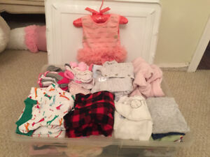 Assorted 3-6 month baby girl clothing