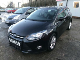 12 REG Ford Focus 1.6TDCi ( 115ps ) Zetec ESTATE IN BLACK