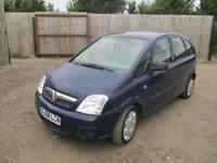 2008 Vauxhall Meriva 1.4i 16v Expression Petrol Manual 5 Door Hatchback Blue